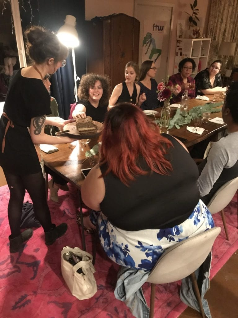 scrap supper passing out plates