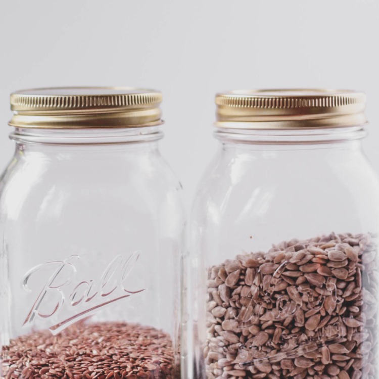 pantry goods nuts and seeds