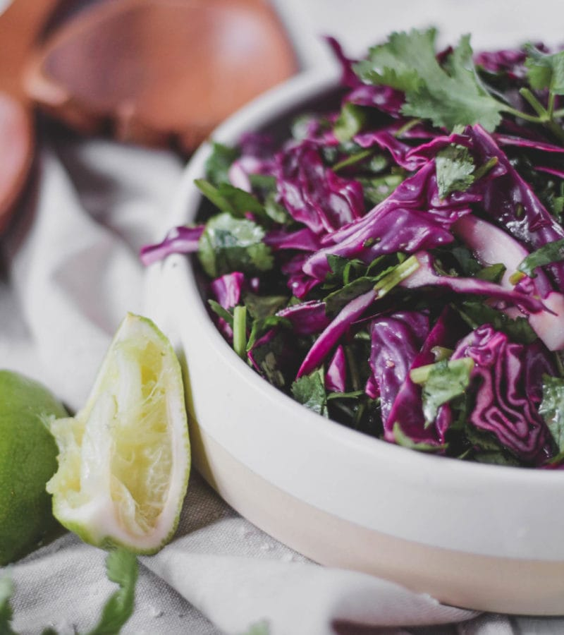limey cabbage cilantro slaw