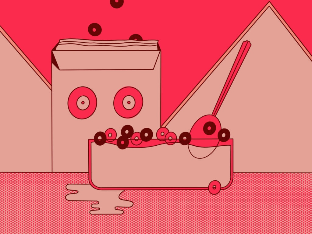 abstract cereal illustration