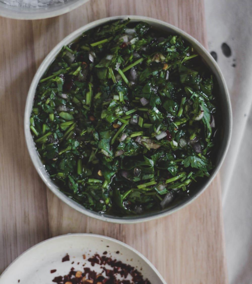 Mixed Herb Scrap Chimichurri