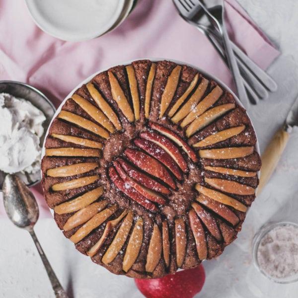 cinnamon apple spelt cake
