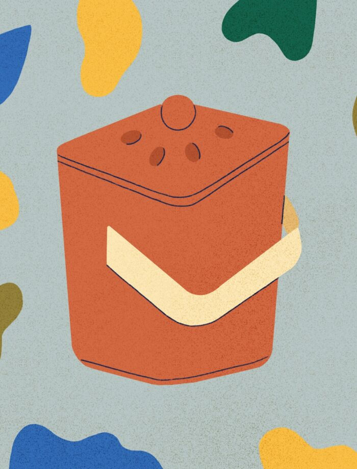 abstract compost container illustration
