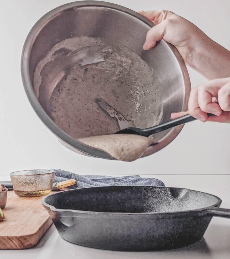 cranberry pear pecan pancake dough