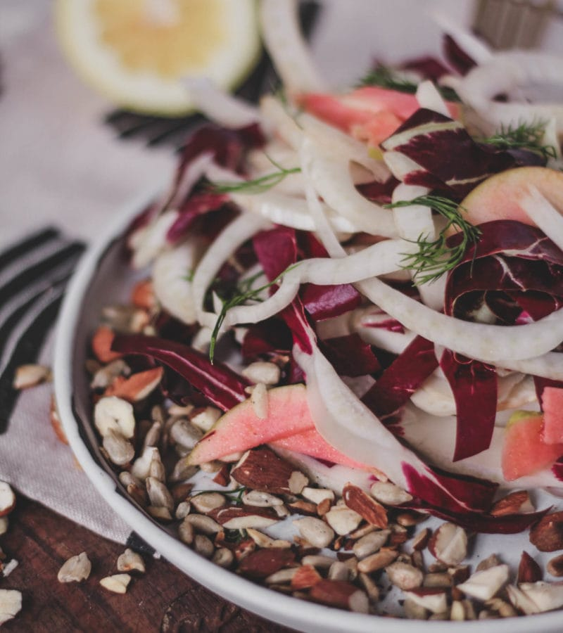 radicchio fennel apple fall salad