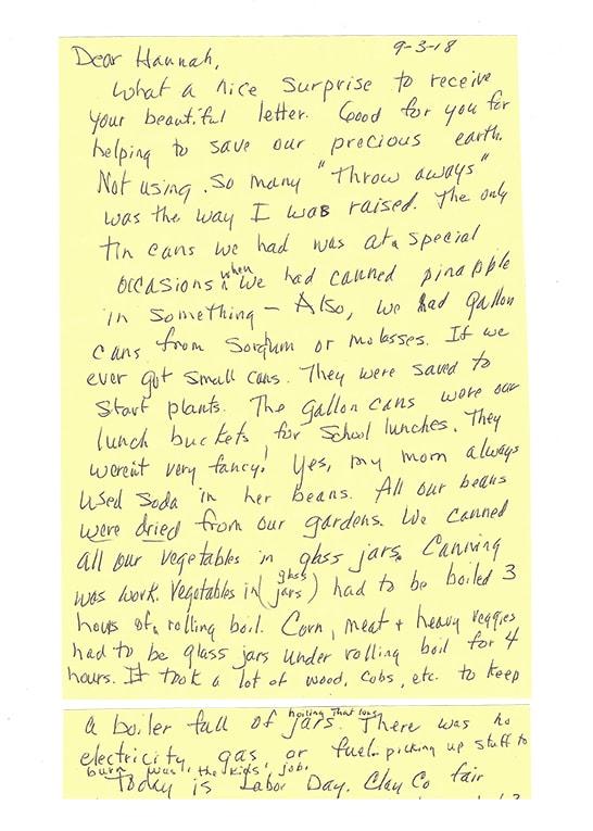 handwritten letter from grandma