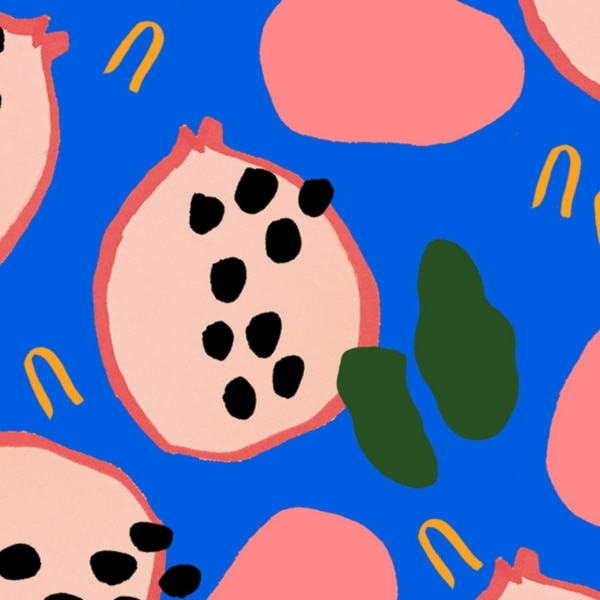 abstract fruit pattern 1