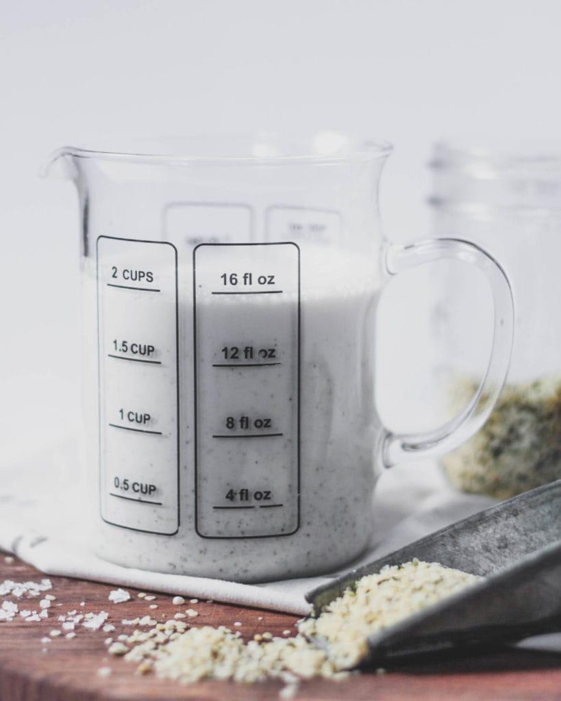 hemp milk and hemp seeds