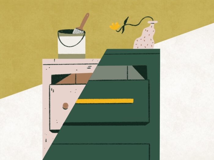 upcycling dresser illustration