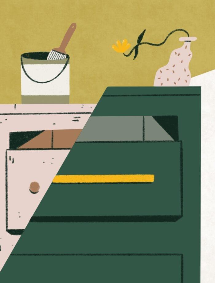 upcycling dresser illustration