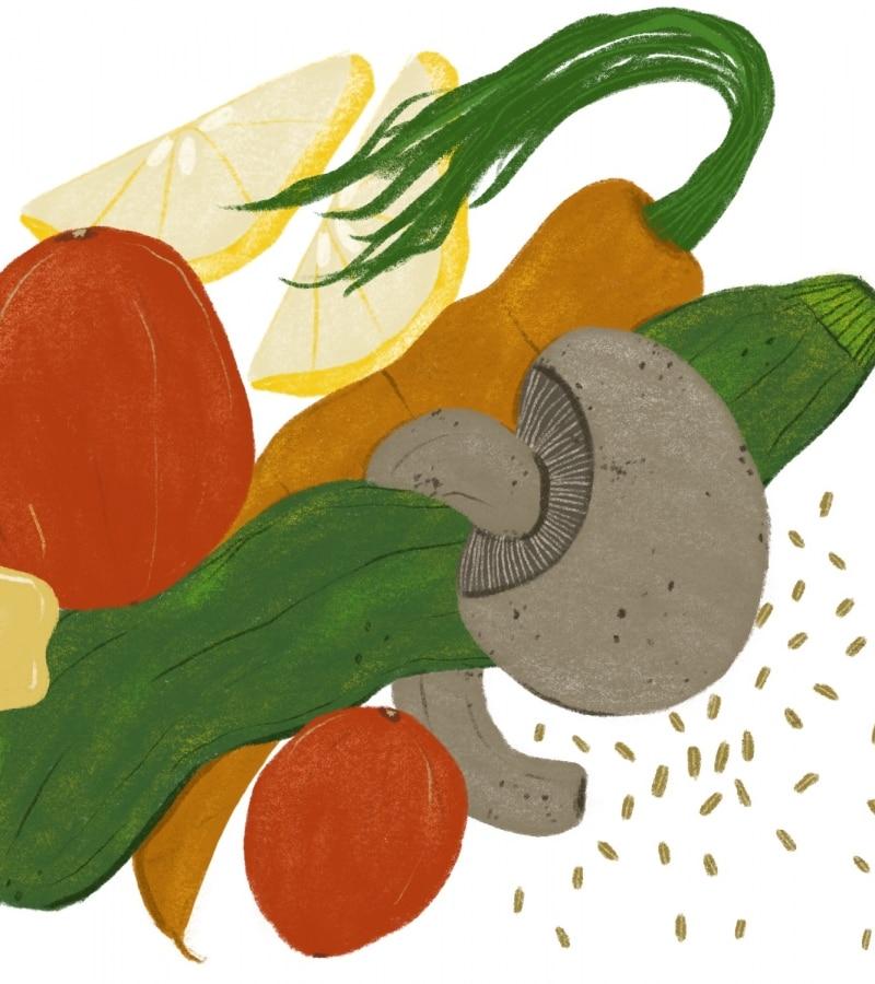 illustrated vegetable medley