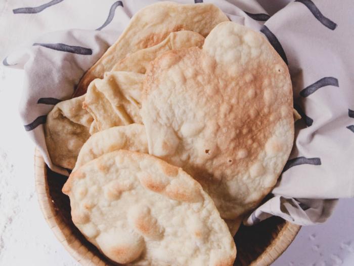 homemade, package-free matzo