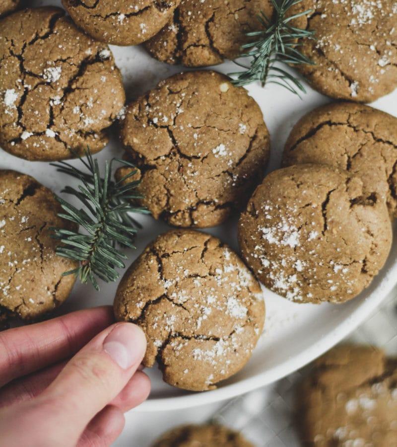 Molasses Cookies Overhead