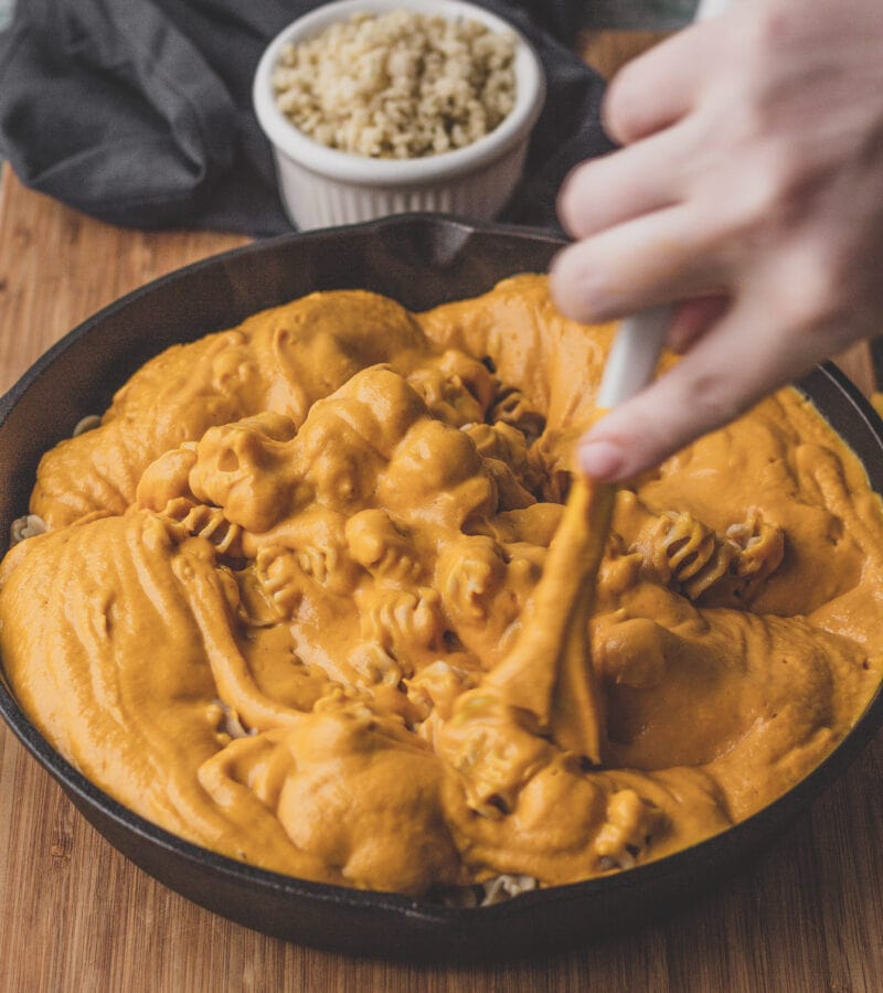 parsnip and sweet potato vegan mac and cheese