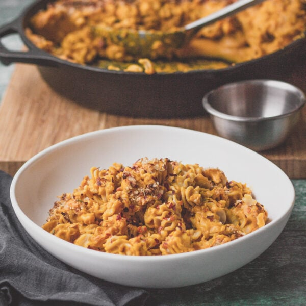 parsnip and sweet potato vegan mac and cheese