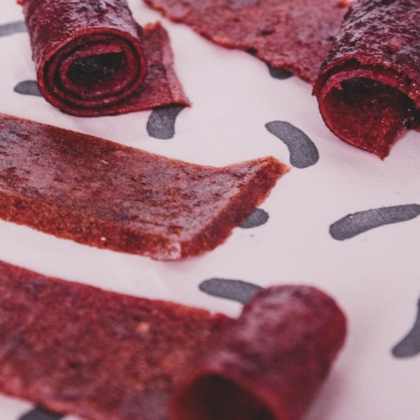 finished fruit leather rolls