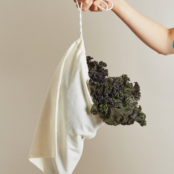 cotton drawstring produce bag
