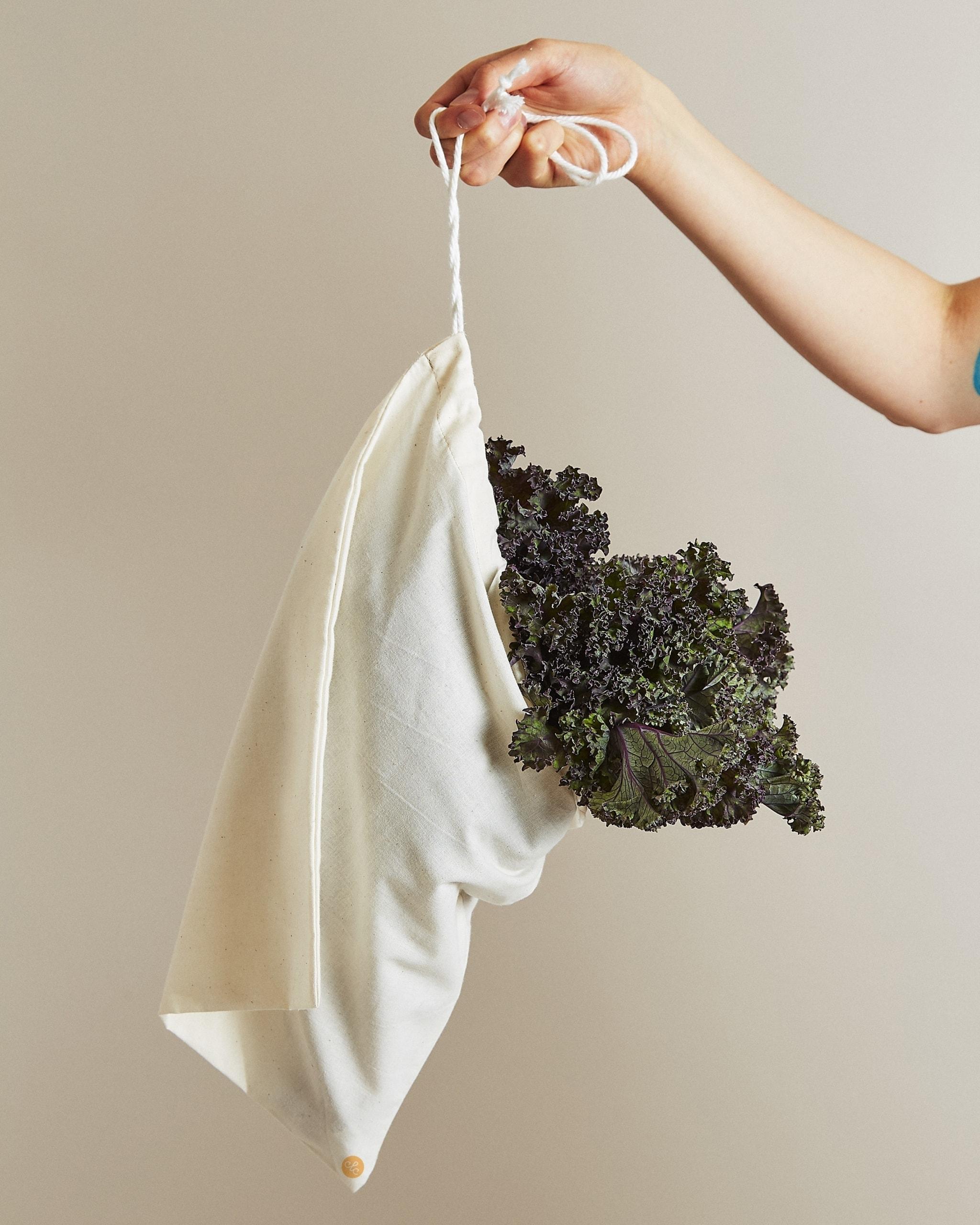 cotton drawstring produce bag