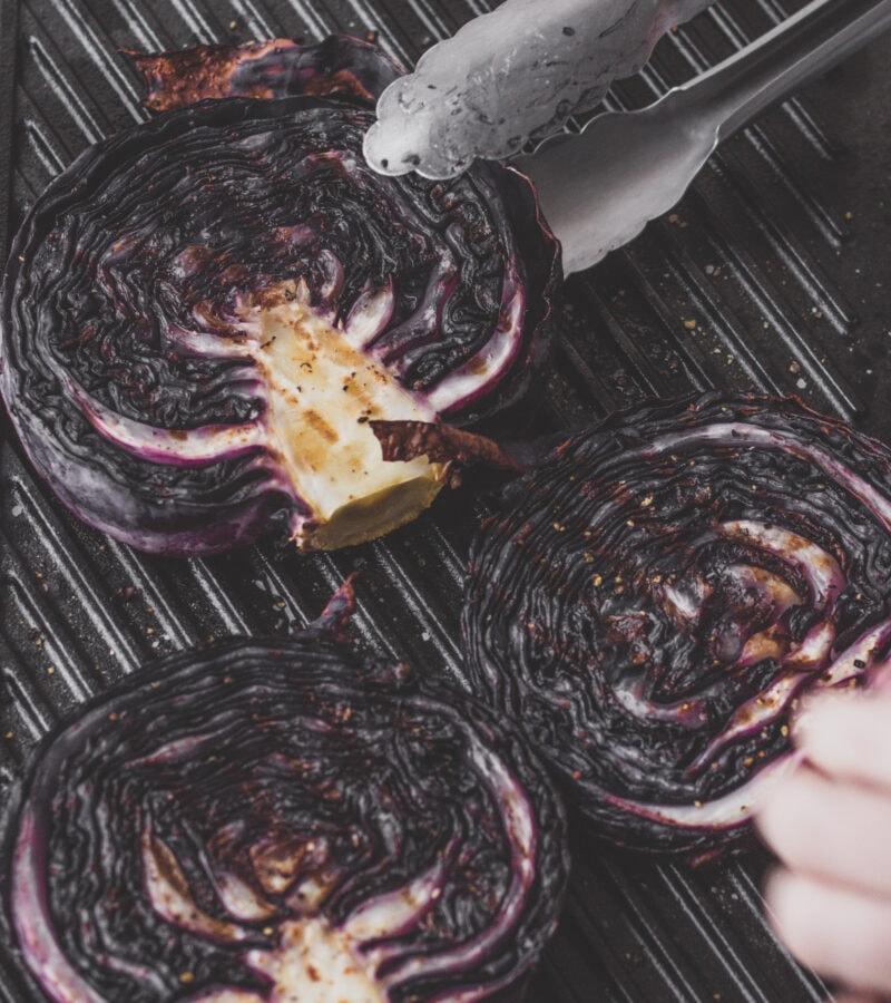 purple cabbage steaks