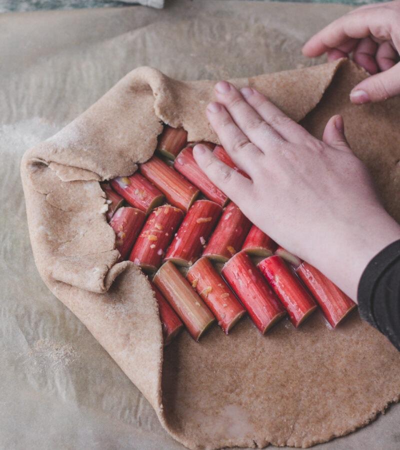 rhubarb galette filling