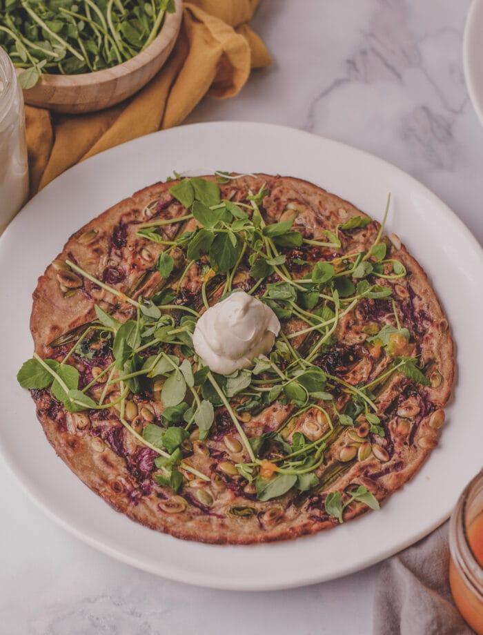 sauerkraut sourdough discard pancake
