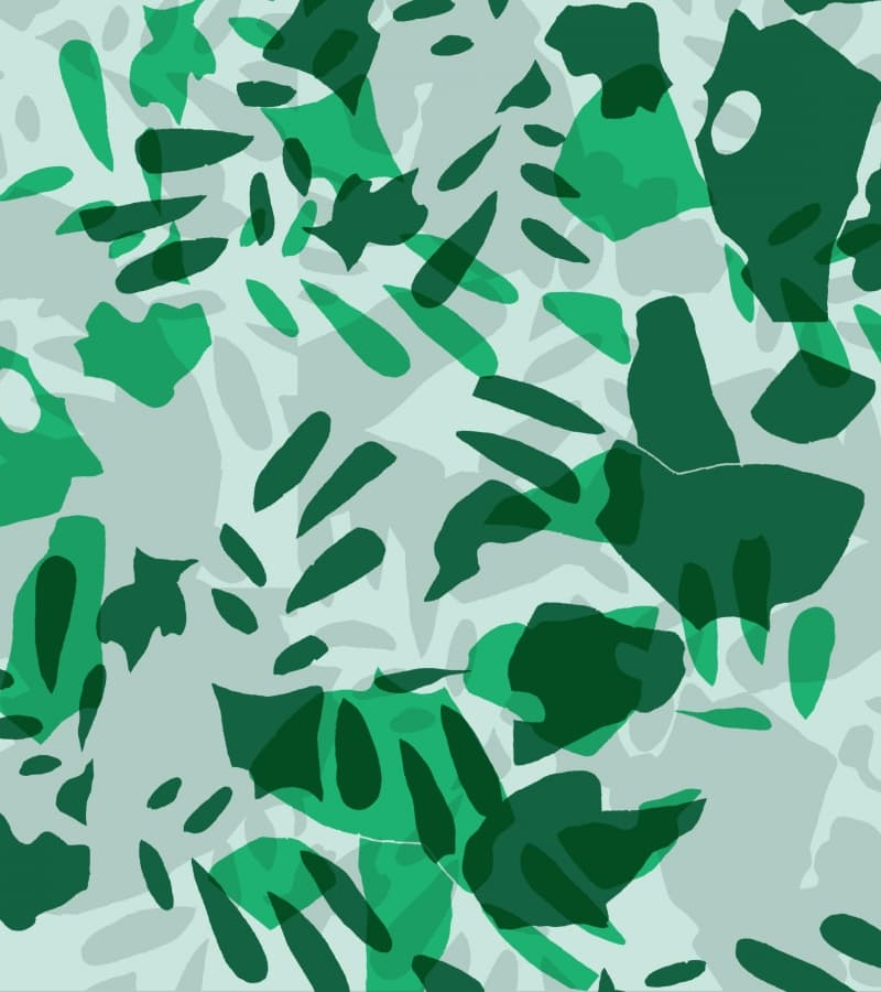 setting intentions abstract green illustration