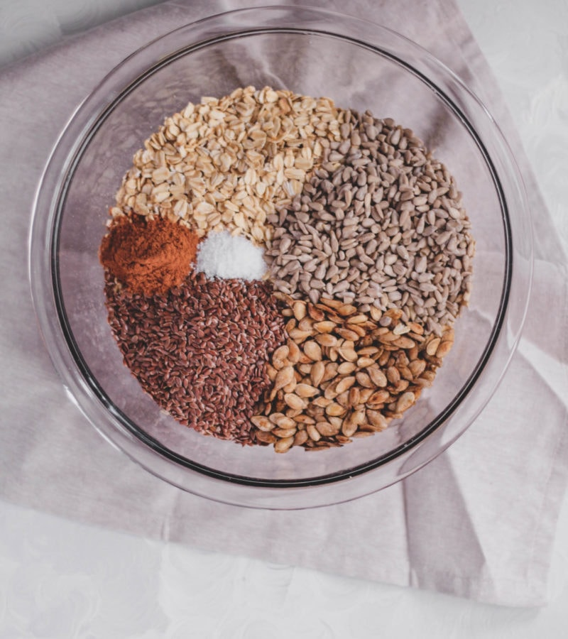 Salty Sweet Squash Seed Granola