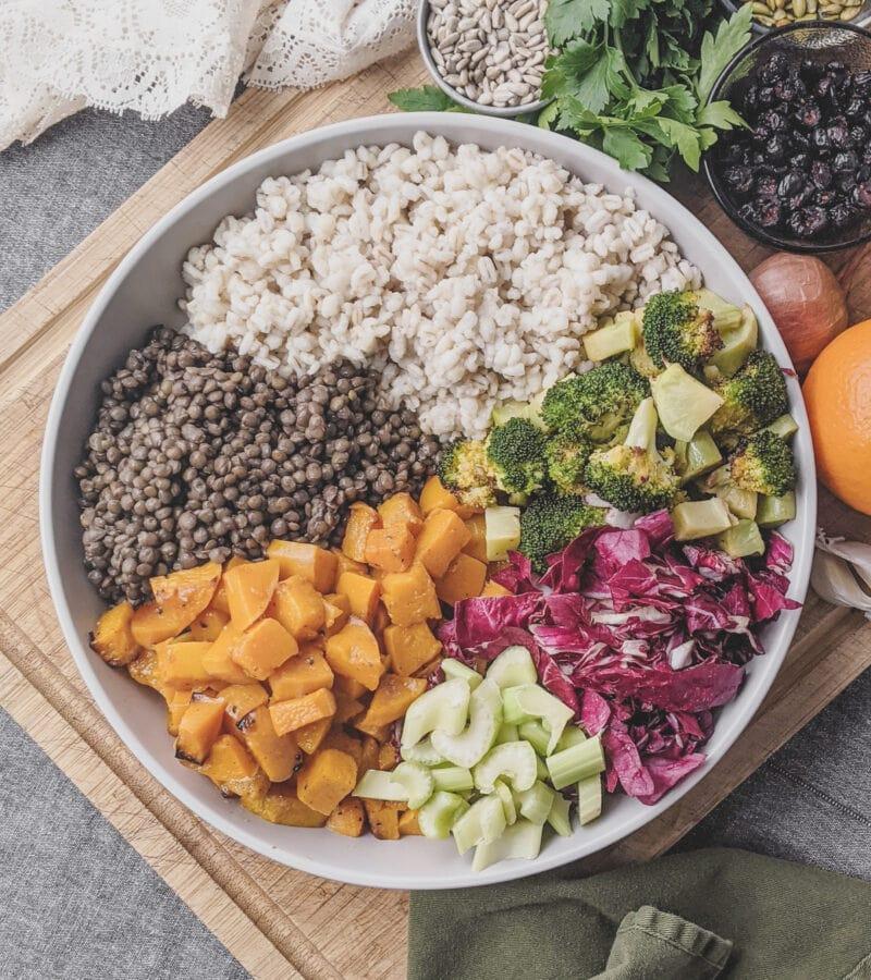 winter grain salad ingredients
